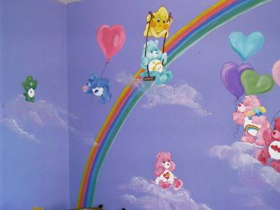 Angiespaintingandmurals for Care bears wall mural